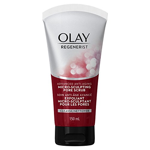 Facial Cleanser by Olay Regenerist Detoxifying Pore Scrub Cleanser, 5 Fluid Ounce Packaging may Vary