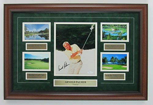 Arnold Palmer Signed Photo - Champ Framed 8x10 Color Collage 141883 - JSA Certified - Autographed Golf Photos - Photo Palmer Arnold Signed