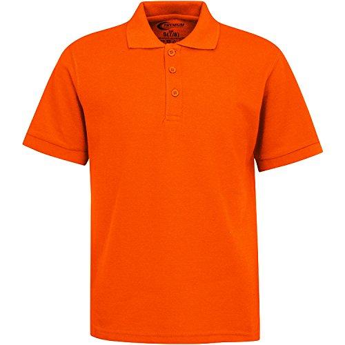 Boys Uniform Polo Shirt Orange M 10/12 by Premium