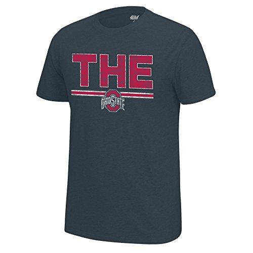 - J America NCAA Men's Ohio State Buckeyes University Staple Tee, Large, Charcoal Heather