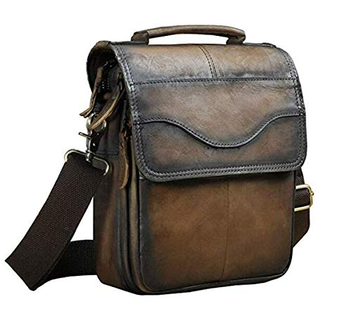 Quality Leather Male Casual Shoulder Messenger Bag Cowhide Fashion Cross-Body Bag 8