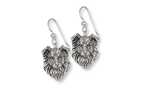 Border Collie Jewelry Sterling Silver Border Collie Earrings Handmade Dog Jewelry BE1-E