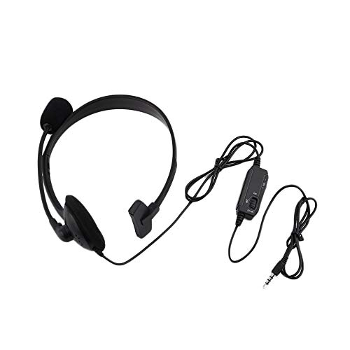 Wired Gaming Headset Headphone Microphone Mic Chat for for Play Station 4