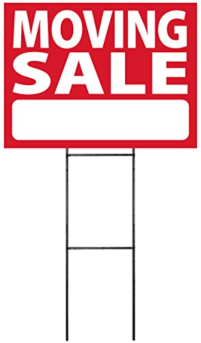 Moving Sale Sign Kit (includes stake)