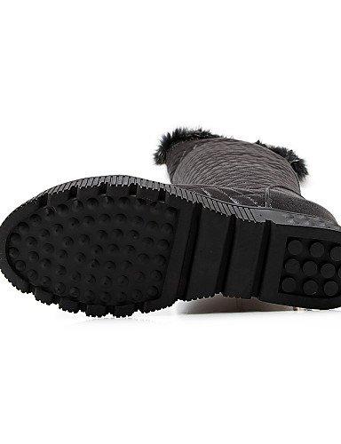 décontracté Femme Plate Bottes Bout de Femme Neige Chaussures Citior pour Bottes à Mode de Bottes Chaussons silver pour Rond Chaussons Forme HtwWZq5Z
