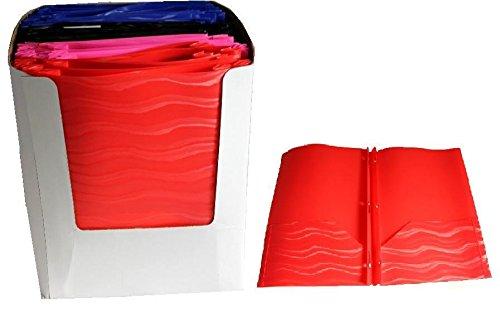 Poly 3 Ring Portfolio - Wave Design 48 pcs sku# 1858899MA by A+Homework