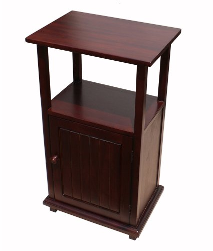 D-Art Mahogany Finish Home Indoor Wooden Simplicity End Display Table Furniture by D-Art Collection