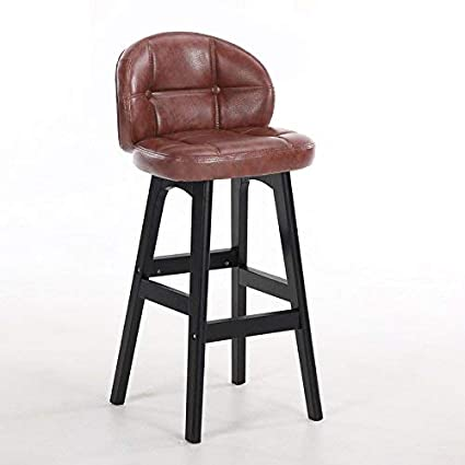 YZH Solid Wood High Chair, Living Room/Reception / Beauty Salon/Barber Shop