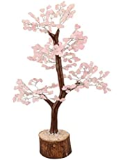 YATHABI Feng Shui Gemstone Healing Crystal Money Tree Bonsai Fortune for Good Luck, Wealth Prosperity Spiritual Gift & Home Décor Silver Wire (Size:- 10-12 Inch)