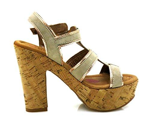 Comme Souple Haut Sandales Le Cuir Sandalette Beje Chaussures Talon En ss02 Beurre 212 Innocent qzR5wxWndz
