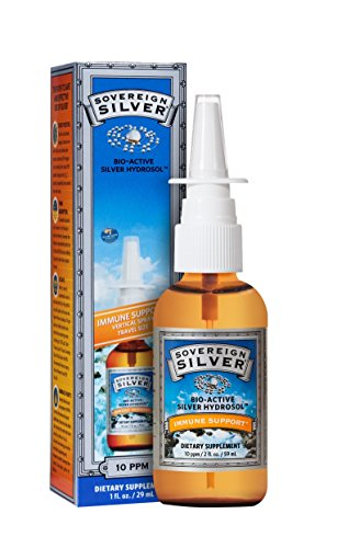 Natural Immunogenic Sovereign Silver Bio Active Hydrosol,Vertical Spray,1 oz