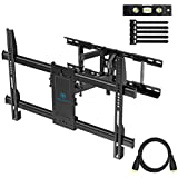 "PERLESMITH TV Wall Mount Swivels, Tilts, Extends - Full Motion TV Mount with Articulating 16"" Arm Fits 16"", 18"", 24"" Wood Studs - VESA 400x400mm for 37-55 Inch LED LCD Flat Screen Plasma TVs"
