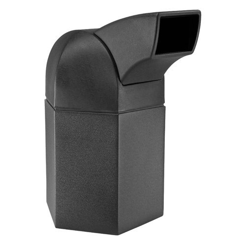 DCI Marketing 73800199 45-Gallon Hex Waste Container with Drive-Through Lid - Black