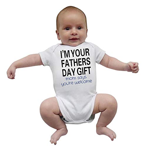 (Newborn Baby Boy & Girl Summer Cotton Short Sleeve Romper Bodysuit Button Letter Printed Outfits Jumpsuit 0-24 Month Hot)