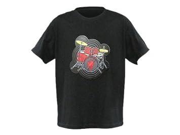 T-Shirt mit Schlagzeug Größe L