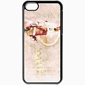 Personalized iPhone 5C Cell phone Case/Cover Skin Ashley Young Football Black