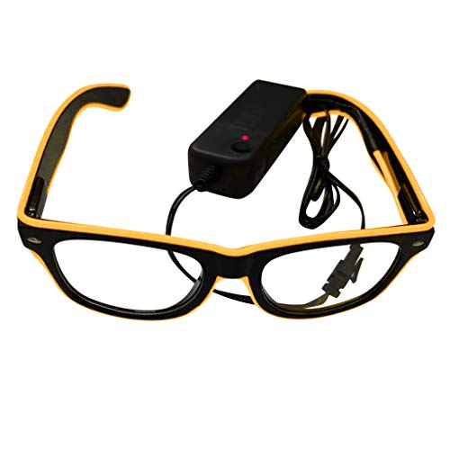 SMALLE ◕‿◕ Light Glasses Party, Led Light Up Glasses Glowing El Wire Glasses for Halloween Disco Bar Party Mask Decor ()