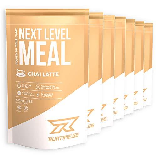 Runtime Next Level Meal Chai Latte - vollwertiger Mahlzeitersatz für langanhaltende Sättigung, Energie, Konzentration...