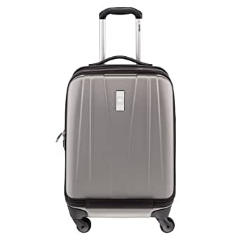 Delsey Luggage Helium Shadow 2.0 International Carry On Expandable Spinner Trolley, Platinum, One Size