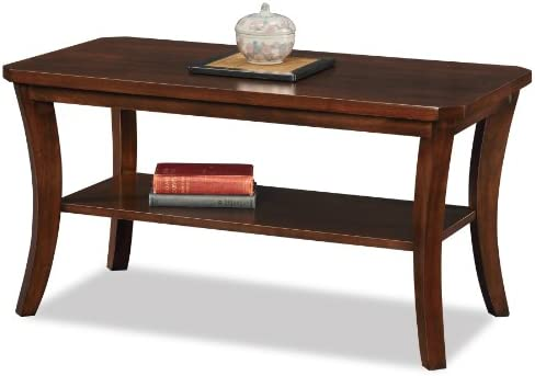 Leick Furniture Boa Collection Solid Wood Condo Apartment Coffee Table