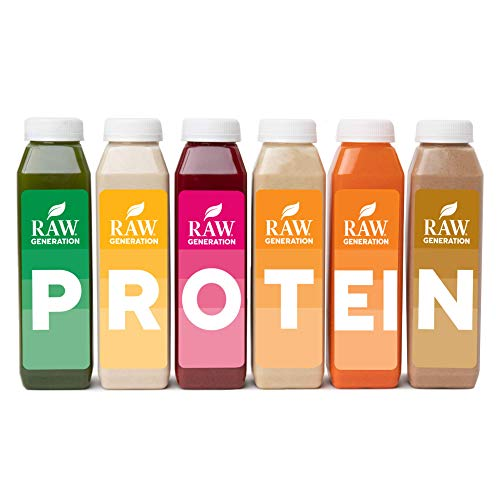 3-Day Protein Cleanse by Raw Generation® – High Protein Juice Cleanse with Dairy and Soy-Free Protein Smoothies/Gets…