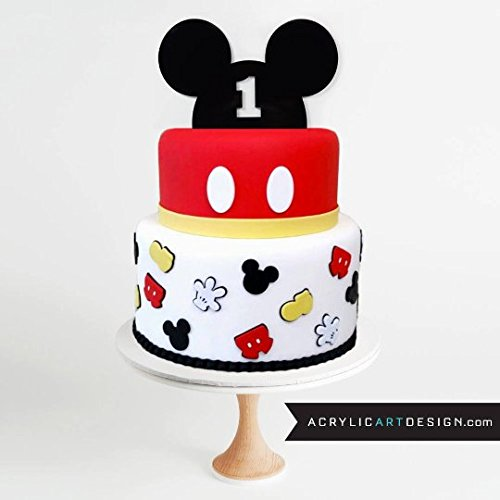 Price comparison product image Mickey Mouse Ears 1st year CAKE TOPPER by Acrylic Art Design