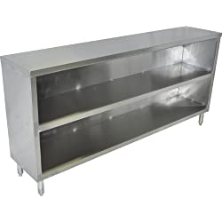 "John Boos EDSC8-1560 Stainless Steel Economy Dish Storage Cabinet, 60"" Length x 15"" Width"