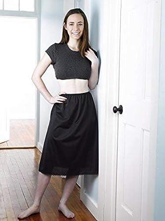 Valair Classic Short and Long Half Slip Skirt for Ladies and Girls Slight Flair Ranges 14 Till 34 Lengths Anti Static
