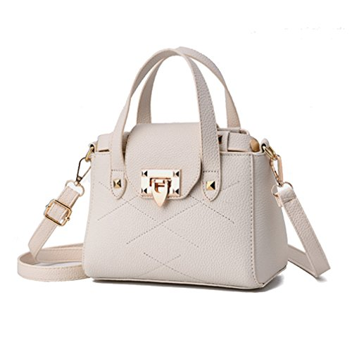 LOMOL Newest Womens Fashion Sweet Elegant Leather Small Tote Top-handle Handbag Shoulder (Ego Laptop Tote)