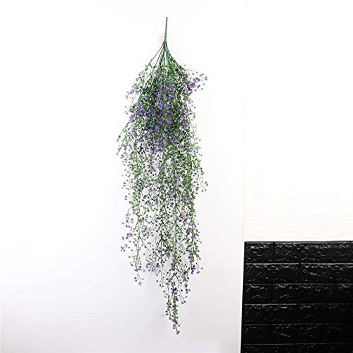 - Artificial Plants - Artificial Hanging Flower Plant Fake Vine Willow Rattan Flowers Wall Decoration 110cm - Rubber Exterior Bamboo Century Palm Antspirit Grapes Boston Tall Outdoors Table