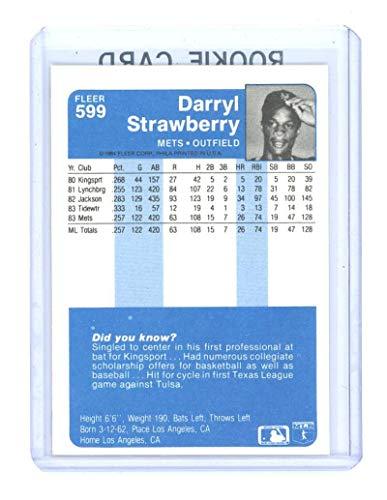 Amazoncom 1984 Fleer 599 Darryl Strawberry New York Mets