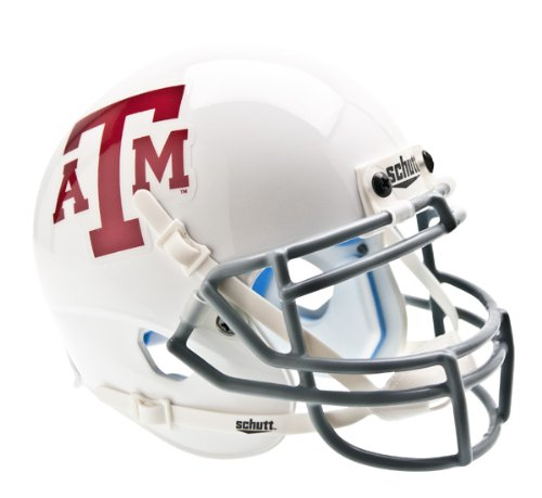 NCAA Texas A&M Aggies Collectible Alt 2 Mini Helmet, White Grey