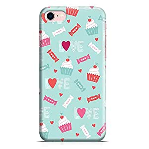 Loud Universe iPhone 8 Case Valentines Love Upcake Heart Pattern Clear Edge Tough Wrap Around iPhone 8 Cover