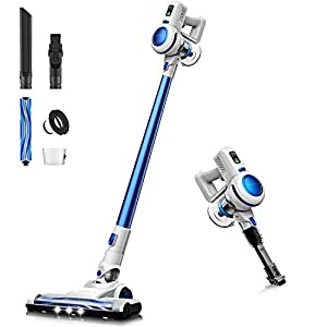 Cordless Vacuum, Stick Vacuum Cleaner 4 in 1, 17000 Pa Powerful Suction, Lightweight & Ultra-Quiet Handheld Vacuum for…