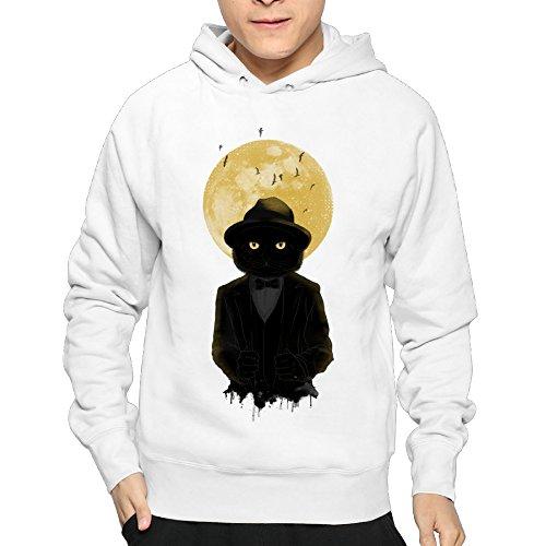 Price comparison product image Warm Hoodies Lightweight Full Moon Cat Man's Hoodies Lightweight