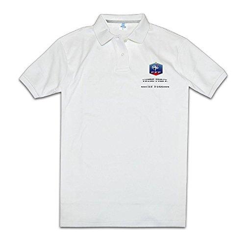 Men's France Slogan Votre Force, Notre Passion Custom Polo Shirt Size S -