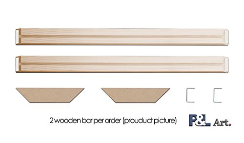 P&L ART.. DIY Wood Stretcher Bars Wall Art Canvas Frame Stretcher Strips Gallery Wrap 28'' x2Pcs by P&L ART.