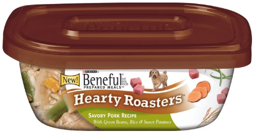 Beneful Prepared Meals Hearty Roaster Pork, 10-Ounce (Pack of 8), My Pet Supplies