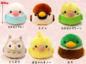 5x5x4 Amuse Dabbling Duck Green Japan Import KOTORITAI Kamo Stuffed Animal Toy Japanese Popular Bird Fluffy Doll Brown Finch Cute Little Bird Plush Toy Standard Size