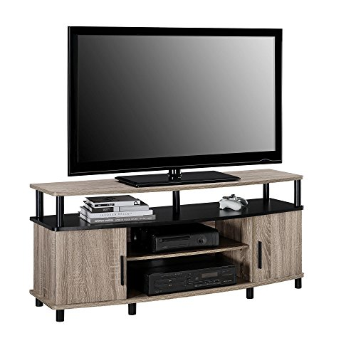 ameriwood home carson tv stand for 50 inch tvs sonoma oak furniture entertainment centers stands. Black Bedroom Furniture Sets. Home Design Ideas