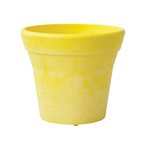 Round Mesa Planter, 12-Inch, Lemon