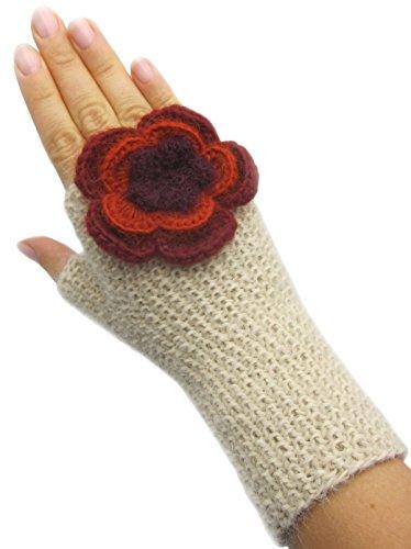 ハンドメイドPureアルパカ指なし手袋 – Honey Cream (を出荷する準備)