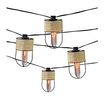 Smith & Hawken 10ct Decorative String Lights-String Wrapped Metal Cage Cover with Edison Bulb