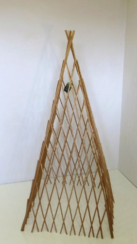 - Master Garden Products Peeled Willow Expandable Teepee