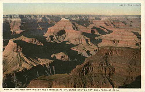 Looking Northeast From Mohave Point Grand Canyon National Park, Arizona Original Vintage Postcard from CardCow Vintage Postcards