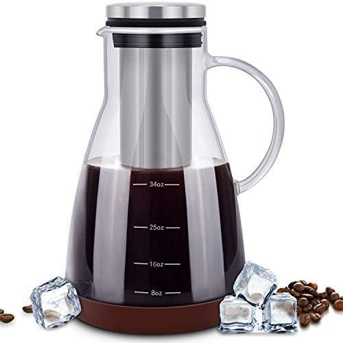 Amazon.com: ESEOE - Cafetera de cerveza fría, jarra de ...