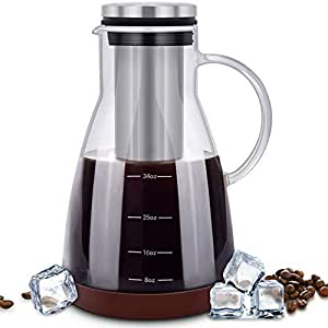 Amazon.com: ESEOE Cold Brew Coffee Maker, Glass Pitcher ...