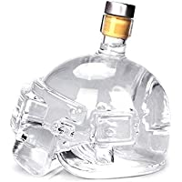 Jasnyfall Novelty Design Wine Pot Helmet Vodka Whiskey Bottle Drinking Glass Game Toy