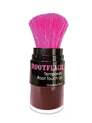 (Rootflage Root Touch Up Hair Powder - Temporary Hair Color, Root Concealer, Thinning Hair Powder, Hair Filler and Concealer and Applicator with Detail Brush Included (Merlot))