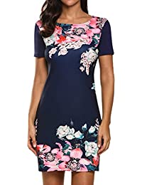 Halife Women's Floral Print Short Sleeve Elegant Party...